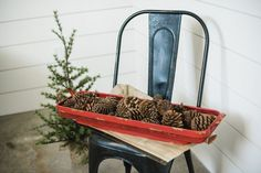 This mesh tray is perfect for holding candles, pinecones, or greenery! Set it on your coffee table, mantle, or use...