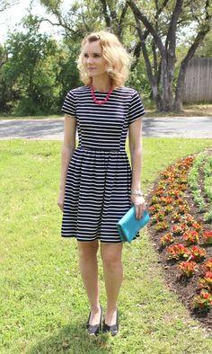 The Peter Som for Kohls Striped Fit & Flare Dress, Plus $100 Kohl's Gift Card Giveaway #Sponsored #PeterSomForKohls
