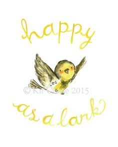 happy as a lark