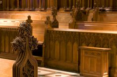 Choir stalls in the National Cathedral, Washington, DC . . . yes, I've gotten to sit in these more than once - and even got to sing in a choir here!  http://flickeflu.com/set/72157603586791455
