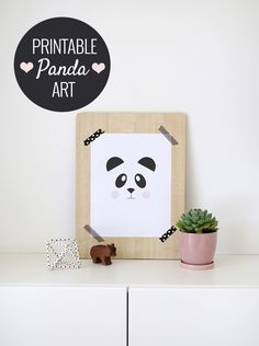 Free Printable Panda Art and the Easiest Way to Frame Art
