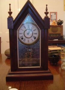 Ansonia Gothic Clock. The Ansonia Clock Company began in 1851, then moving to NY. in 1878.