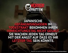 In Japan gibt es die Todesstrafe? Funny Horror, Creepy Horror, Scary Facts, Fun Facts, The More You Know, Good To Know, Old Best Friends, Creepy Ghost, I Can Relate