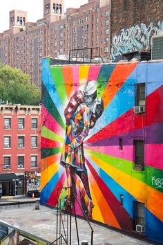 Street Art in NYC | Blog Anne-Sotte...I want something like this in my home one day :)