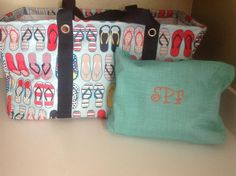 Turquoise Cross Pop looks great with the new Fun Flops print to make a great solution set for the beach or pool! www.mythirtyone.com/sarahotto