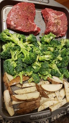 epicurean broccoli dinner potato wedges budget steak one pan One Pan Dinner Steak Broccoli Potato Wedges Budget EpicureanYou can find Easy dinner recipes and more on our website Easy Steak Recipes, Healthy Dinner Recipes, Beef Recipes, Cooking Recipes, Sirloin Steak Recipes Oven, Oven Steak, Steak Dinner Recipes, Grilled Steak Recipes, Cooking Steak