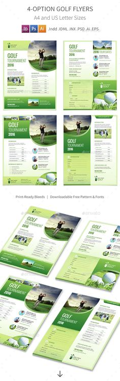 Golf Play Wall Calendar A3 2018 V02 Golf, Calendar design and - golf tournament flyer template