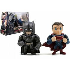 Batman v Superman: Dawn of Justice Superman and Batman with Armor 4-Inch Die-Cast Figure 2-Pack * Read more @ http://www.amazon.com/gp/product/B01A5UNRT0/?tag=superheroes025-20&jk=160816062819