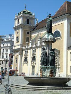 Schottenkirche and Austria Fountain, Vienna