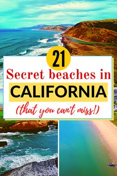 Are you visiting California soon and want to get off the beaten track and discover some secluded secret beaches in California? Check out this article for some hidden beaches in California that you probably never heard of.   #hiddenbeachescalifornia #beachescalifornia #secretbeachescalifornia #travelingtonorthamerica Destin Beach, Beach Trip, Beach Travel, Beach Vacations, Beach Bum, Canada Travel, Travel Usa, Travel Tips, Travel Ideas