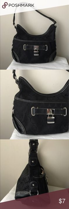 """Nine West black shoulder bag Black design shoulder bag - top zipper closure - front lock design detail - 11"""" x 9"""" x 4"""" - 10"""" strap drop Nine West Bags Shoulder Bags"""