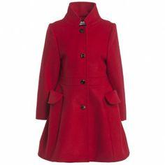 Dior Girls Red Wool Coat at Childrensalon.com