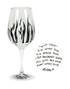 $14.63-$17.50 Lolita Love My Party Wild Child 16-Ounce Acrylic Wine Glasses, Set of 2 - Partyware to go- anywhere and anytime. Set of 2 stylish acrylic wine glasses decorated in Lolita patterns add fun to any occasion and make a great gift for so many occasions. Wine cocktail recipe on the bottom of every glass. Each glass is 8-3/4-Inch tall and 3-1/2-Inch diameter; holds 16-Ounce. Whatever your ...