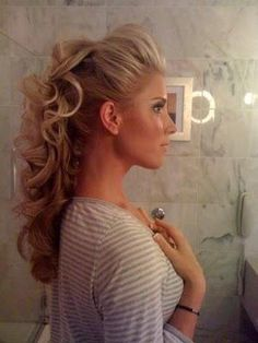 Make the poof a little smaller if it were for wedding, but is a super cute up do