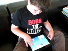Leo Playing FirstWords on His iPad - YouTube
