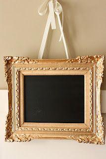 chalkboard picture frame