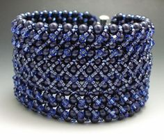stitched bead bracelet