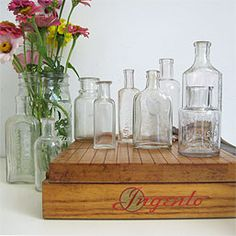 3Potato4 small antique bottles, set of 3, $12. Currently on sale for $8.40.