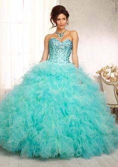 Quinceanera dresses by Vizcaya 88098 Beaded Bodice on a Two Tone Ruffled Tulle Ballgown Skirt Matching Bolero. Colors Available: Mint/Freeze, Cerise/Scarlet. Sizes Available: 2-24. Mint Quinceanera Dresses, Quinceanera Ideas, Beautiful Gowns, Prom Girl Dresses, 15 Dresses, Ball Dresses, Ball Gowns, Fashion Dresses, Puffy Dresses