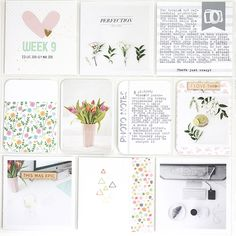 Life Pages Spread by Magda. Love the sewing and typewriter text on this one1