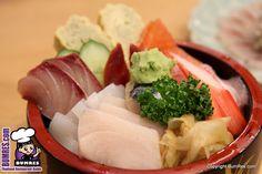 Chirashi Sushi at Hanaya Restaurant, Bangkok. Yummy!