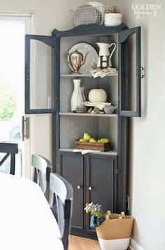 Mural Of Corner Dining Room Hutch Storage Ideas