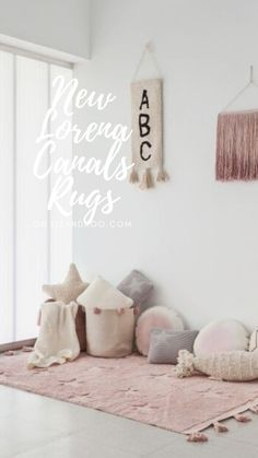Complete your nursery décor with Lorena Canals rugs! These hypoallergenic all-natural cotton nursery rugs are cozy, colorful, and machine-washable.