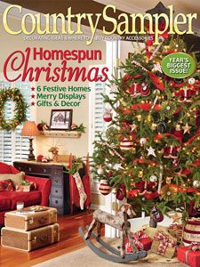 Country Sampler Magazines Lot of Two September November 2014 Fall Holidays Christmas Feeling, Christmas Makes, Christmas Time, Primitive Christmas, Vintage Christmas, Country Christmas, Country Sampler Magazine, Craft Online, Holiday Tree