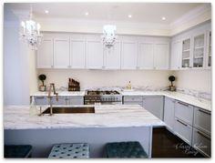 Kitchen In Progress Update | Grey Cabinets | Glass Doors On Upper Cabinets  | Minimalist Part 29