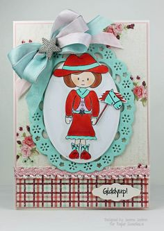 Designed by Jeanne Jachna using Sophie and Giddyup! stamp sets from www.PaperSweeties.com