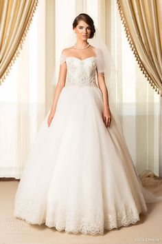 alice design bridal 2015 romantic princess ball gown wedding dress off shoulder illusion sleeves