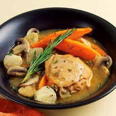 Try this healthy and delicious chicken and sweet potato stew recipe for a perfect Fall dinner.