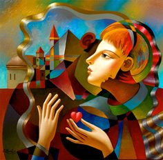 Thoughts of Home - Original Oil On Canvas by Oleg Zhivetin