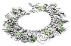 Peter Pan Crystal Charm Bracelet