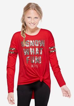 Holiday Sequin Long Sleeve Tee