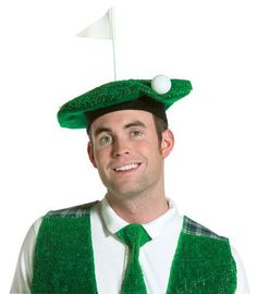 Hole-In-One Golf Adult Costume Beret