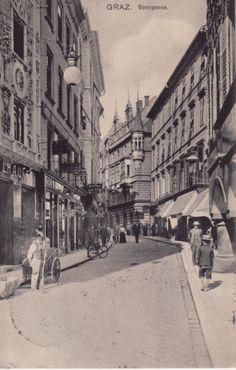 Grazer Postkarten © Manfred M. Strasser - Sporgasse 1907