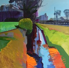 Find Ditch on Mildenhall Fen by Fred Ingrams online. Choose from thousands of contemporary artworks from exciting artists expertly-vetted by Rise Art's curators. Buy art online with confidence with free art advisory. Abstract Landscape Painting, Landscape Art, Landscape Paintings, Abstract Art, Impressionist Paintings, Abstract Paintings, Oil Paintings, Contemporary Landscape, Contemporary Artwork