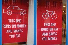 Auto - fiets This one runs on money and makes you fat. This one runs on fat and saves you money Save Your Money, Thats The Way, Funny Signs, How To Lose Weight Fast, Reduce Weight, Save Yourself, Just In Case, Saving Money, Saving Tips