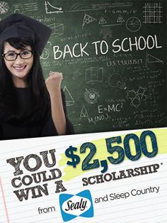 Win a $2,500 Scholarship from Sleep Country *Contest Closes on Sept 30* http://free.ca/contests/win-scholarship-sleep-country/ #SleepCountry #Contest