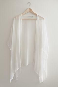 Addison Fringe Kimono | Modern Bohemian White Lace Fringe Bridal ...