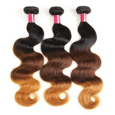 Brazilian Body Wave Hair Bundles Ombre Brazilian Remy Hair Unprocessed Virgin Human Hair Extension</p> Dark Ombre Hair, Brown To Blonde Ombre, Best Ombre Hair, Ombre Hair Color, Best Weave Hair, Colored Hair Extensions, Brazilian Hair Bundles, Body Wave Hair, Brazilian Body Wave