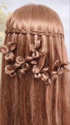 hairstyles fancy easy / hairstyles fancy _ hairstyles fancy half up _ hairstyles fancy curls _ hairstyles fancy easy _ hairstyles fancy updo Easy Hairstyle Video, Braided Hairstyles Updo, Cute Hairstyles, Wedding Hairstyles, Rose Hairstyle, Hair Growing Tips, Medium Long Hair, Bridesmaid Hair, Hair Videos