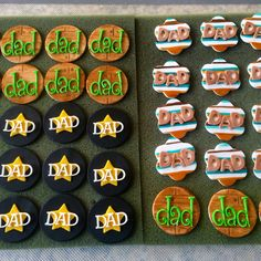 Father's Day Cupcake Toppers #tutuscupcakery #cupcakesracomin Fathers Day Cupcakes, Cupcake Toppers, Goodies, Sweet Like Candy, Gummi Candy
