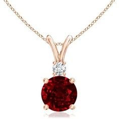 Diamond V-Bale Solitaire Ruby Pendant ($3,329) ❤ liked on Polyvore featuring jewelry, pendants, diamond jewellery, diamond pendant jewelry, 14k pendant, handcrafted jewellery and 14k jewelry