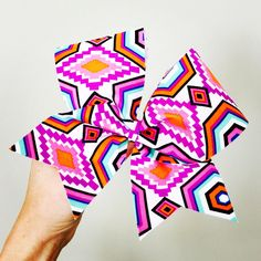 Aztec pattern Spandex Cheer Bow Navajo