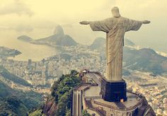 Picture titled Christ the Redeemer from our Rio de Janeiro, Brazil photo gallery. Check out this and 20 other pictures of Rio de Janeiro. Places Around The World, Oh The Places You'll Go, Places To Travel, Travel Destinations, Places To Visit, Around The Worlds, Travel Route, Dream Vacations, Vacation Spots