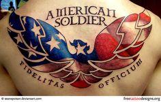 American soldier tattoo