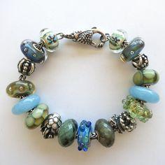 Blue Quartz Inspiration Trollbeads Bracelet designed by Tartooful