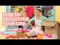 SuzelleDIY - How to Declutter Your Life, A Bitesized DIY Webseries. SuzelleDIY - How to Declutter Your Life, A Bitesized DIY Webseries. Declutter Your Life, Get Reading, Diy Tops, Life Organization, Organizing, Domestic Goddess, Diy Videos, Cleaning Hacks, Make Your Own